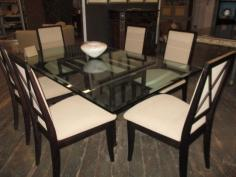 """Del Teet"" Dining Table with Six Side Chairs"